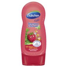 Bübchen Kids šampon a sprchový gel - malina (230 ml)