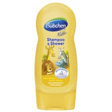 Bübchen Kids šampon a sprchový gel - safari (230 ml)
