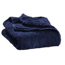 Knitted woollen baby blanket