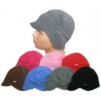 Dětská zimní čepice na uši s kšiltem flees
