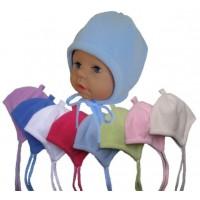 Zimní kojenecká čepice, jednobarevná