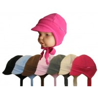 Zimní dětská čepice s kšiltem, flees