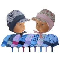 Dětská čepice na uši s kšiltem