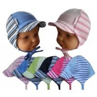 Dětská bavlněná čepice s kšiltem